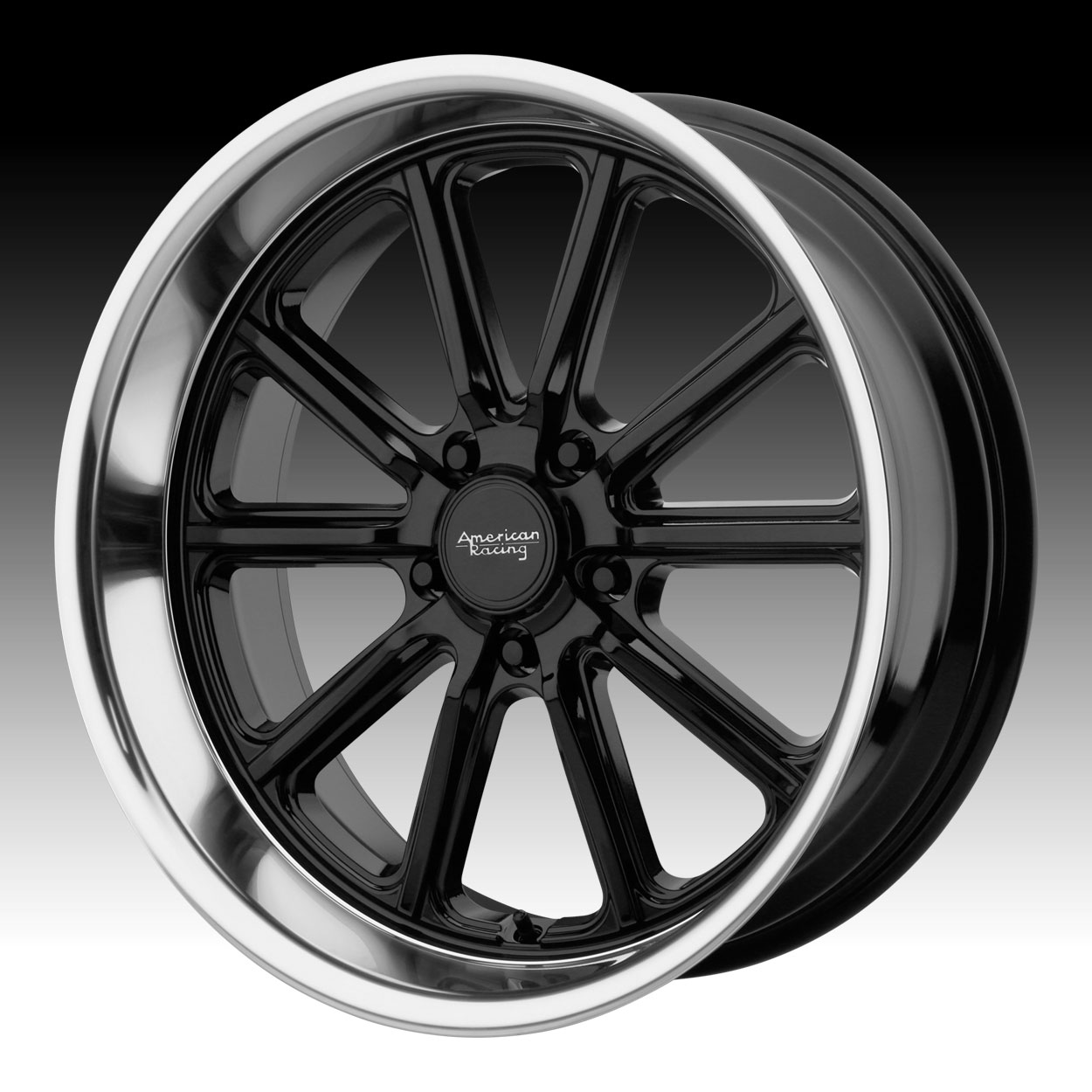 American Racing 18x8 VN507 Rodder Wheel Vintage Silver Diamond Cut 5x115 15mm
