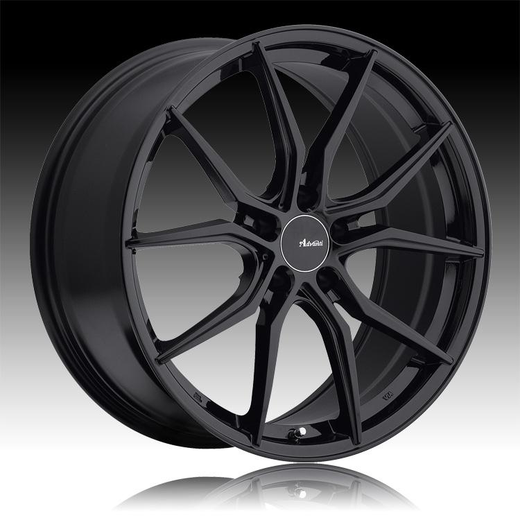 advanti racing hy hybris gloss black custom wheels rims. Black Bedroom Furniture Sets. Home Design Ideas
