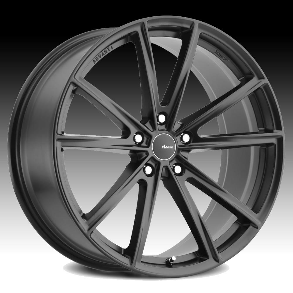 advanti racing to torcere matte black custom wheels rims. Black Bedroom Furniture Sets. Home Design Ideas
