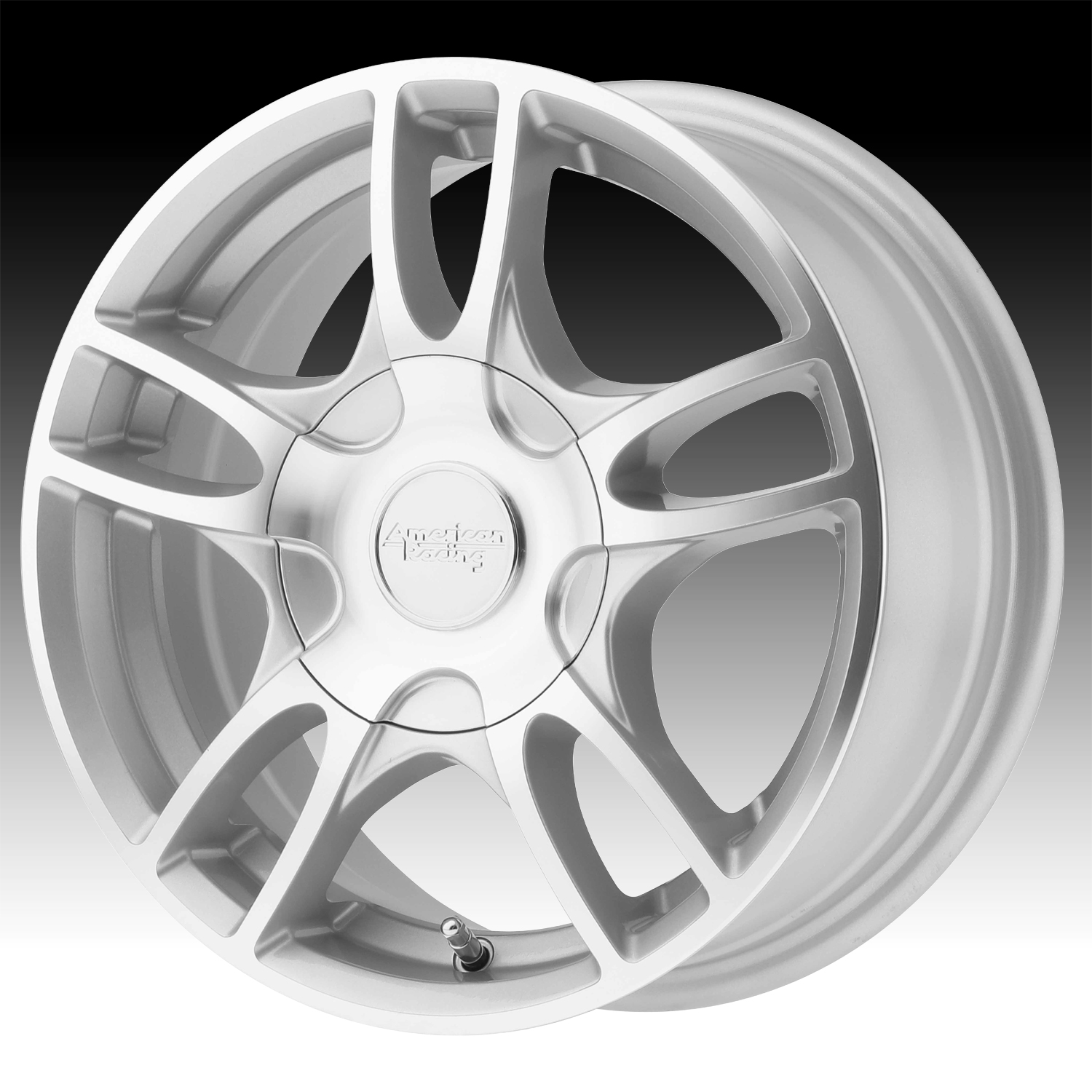 American Racing Ar919 Machined Silver Custom Wheels Rims