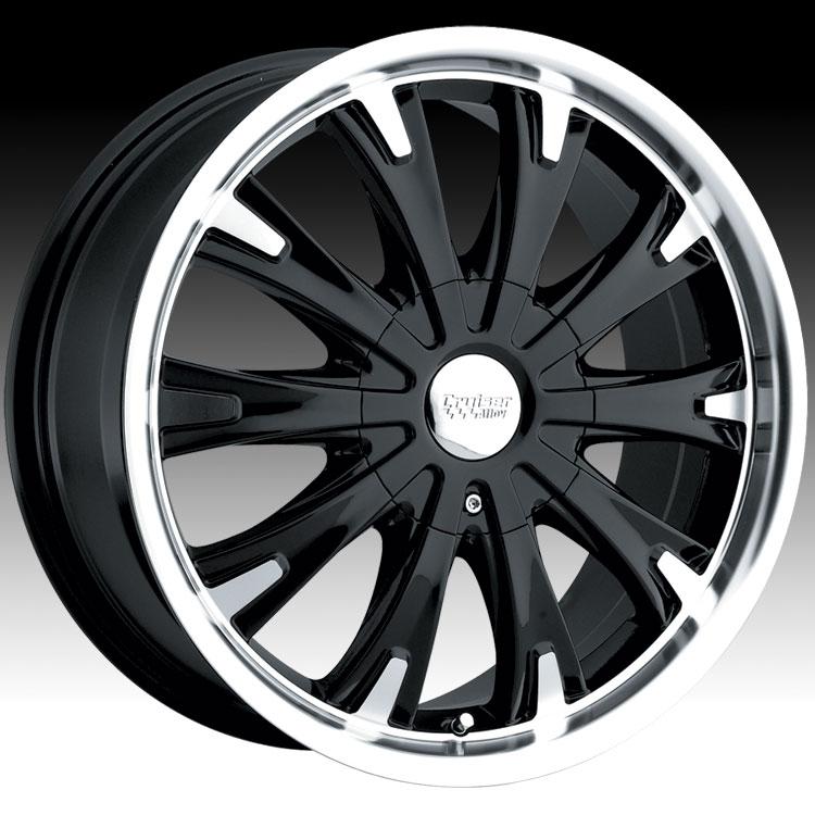 cruiser alloy mb  cake fwd machined  black custom rims wheels cruiser alloy