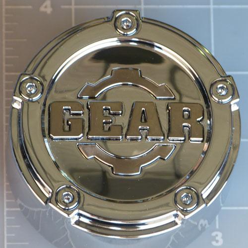 Cap 5l C14 Gear Alloy Chrome Pop In Center Cap Gear