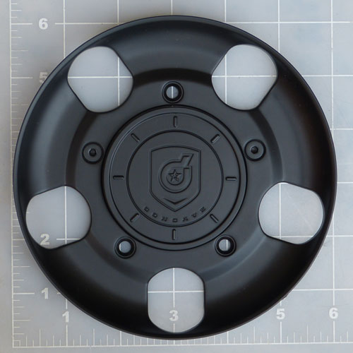 CAP-644BF / DropStars Satin Black Bolt-On Center Cap 1