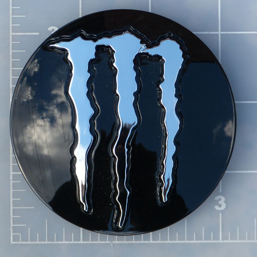 LENS-535MB-MC /  Monster Energy Gloss Black Pop-Out Center Cap 1