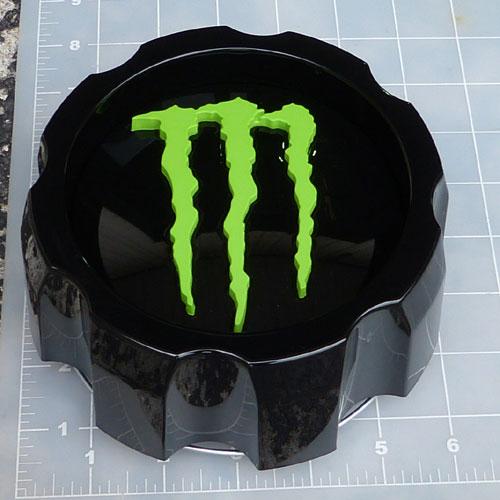 Cap 648mb 8 Mg Monster Energy Gloss Black Center Cap