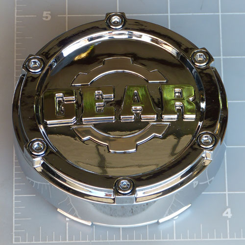 CAP-6L-C14 / Gear Alloy Chrome Bolt-On Center Cap 1