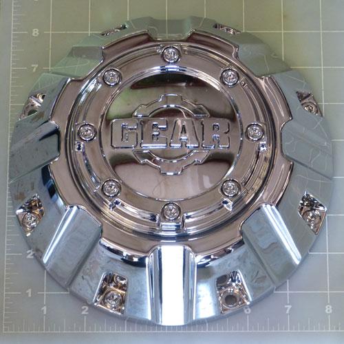 Cap 8c C14 Gear Alloy Chrome Bolt On Center Cap Gear