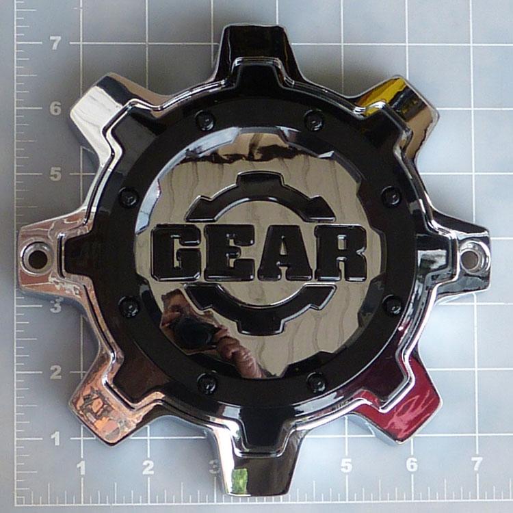 Cap 8l Cb16 Chrome With Gloss Black Overlay Gear Alloy
