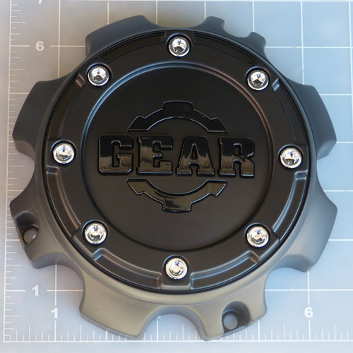CAP-8L-M14 / Gear Alloy Satin Black Bolt-On Center Cap 1