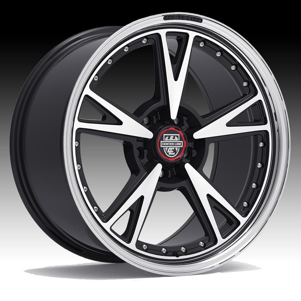 Center Line 632mb Mm3 Machined Black Custom Wheels Rims