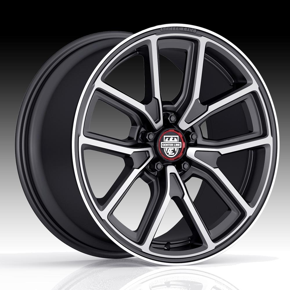 Center Line 633mb Mm4 Machined Black Custom Wheels Rims Center Line Modern Muscle Series