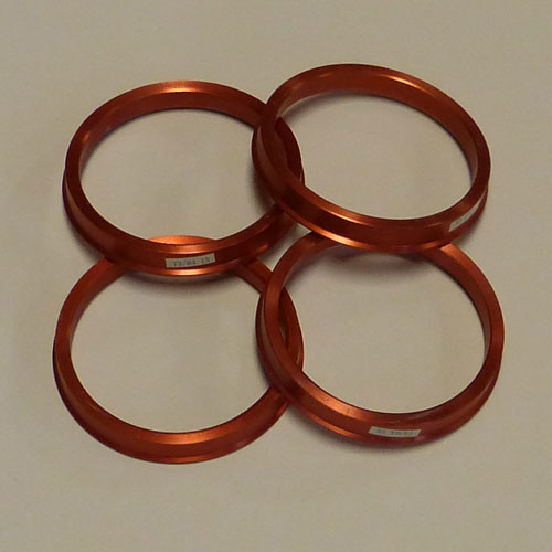 Hub Centric Rings (Premium Metal Rings) for Cars - (Set of 4) 1