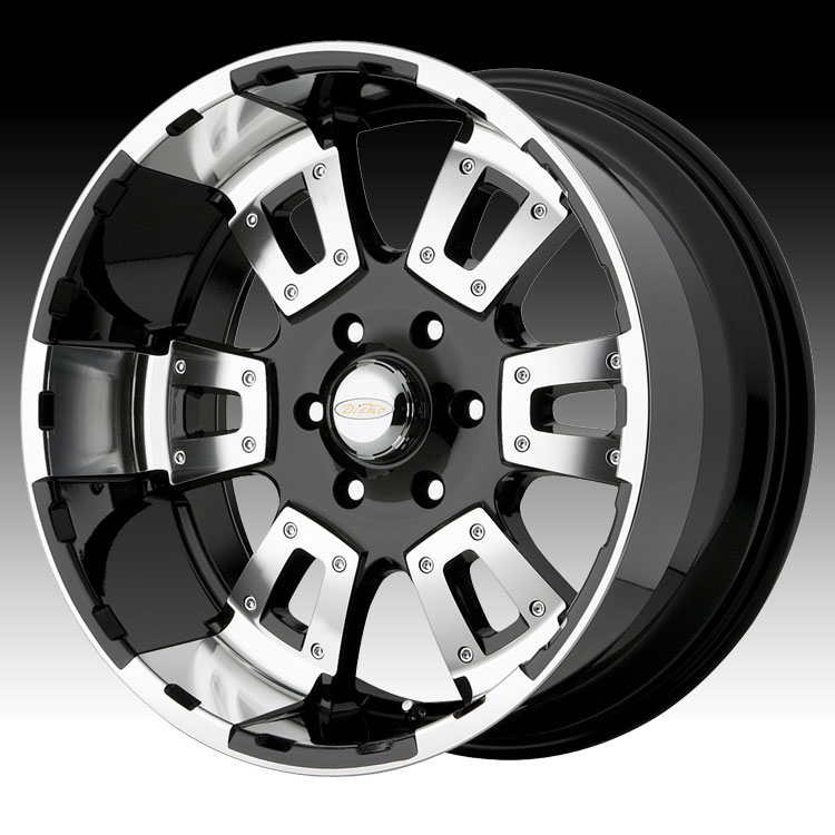 Gloss Black With Machined Accents Rims: Diamo DI17 Karat Gloss Black W/ Machined Accents Custom
