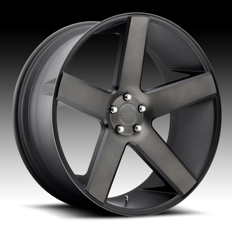Black Wheels Dub Alloys: Dub Baller S116 Machine Black DDT Custom Wheels Rims