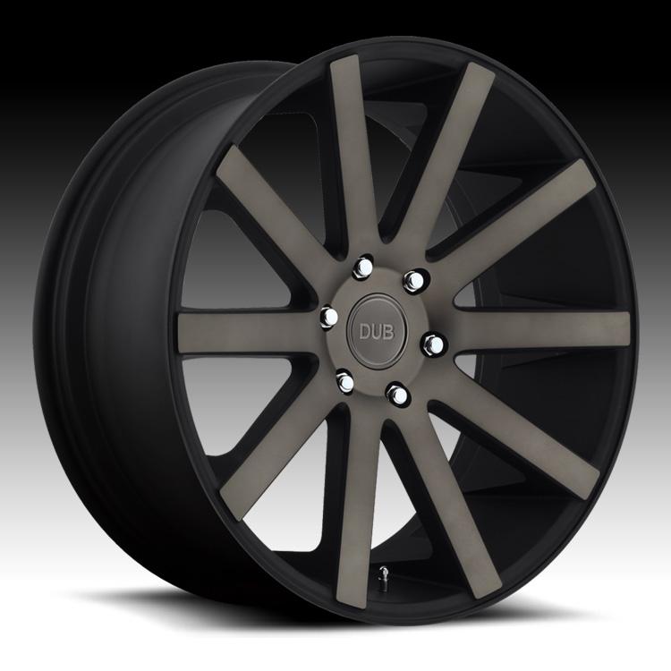 Black Wheels Dub Alloys: Dub Shot Calla S121 Machined Black DDT Custom Wheels Rims