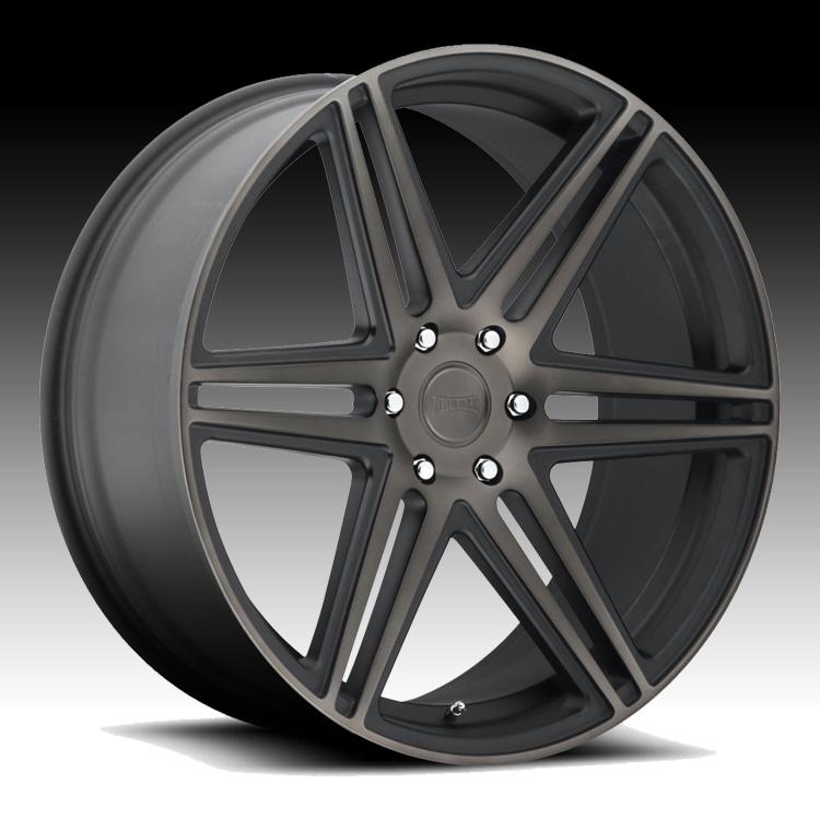 Black Wheels Dub Alloys: Dub Skillz S123 Machined Black DDT Custom Wheels Rims