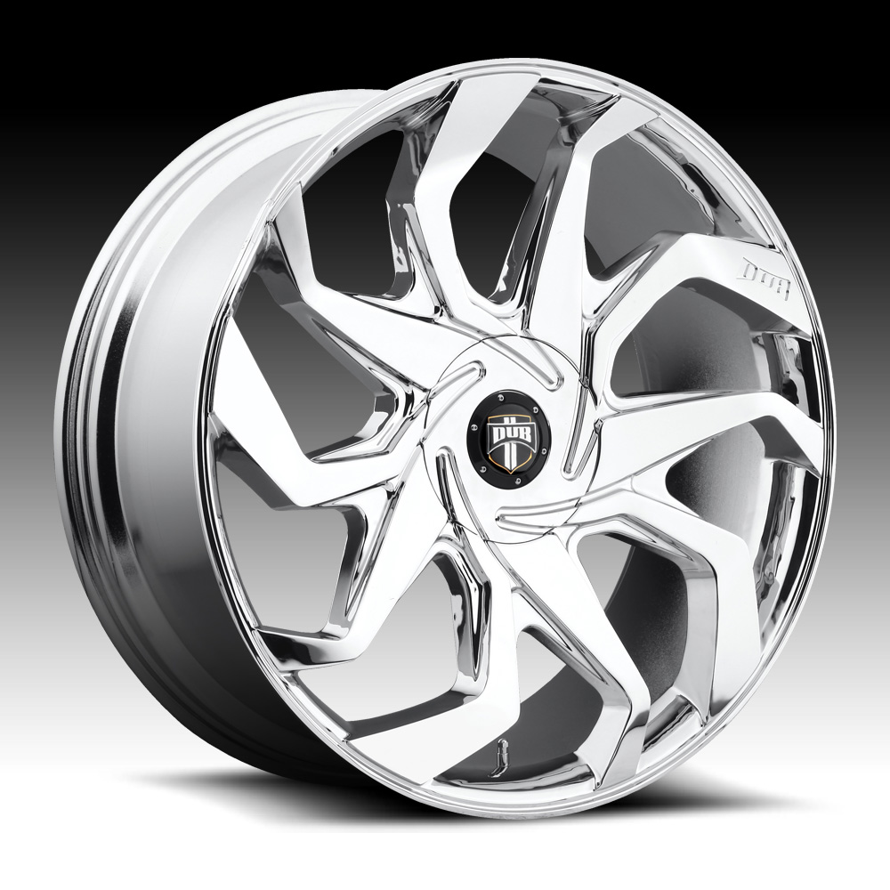 Dub Sleeper S124 Chrome Custom Wheels Rims - Dub 1PC Custom Wheels ...