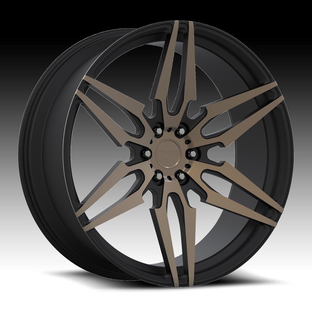 Black Wheels Dub Alloys: Dub Attack-6 S211 Machined Black DDT Custom Wheels Rims