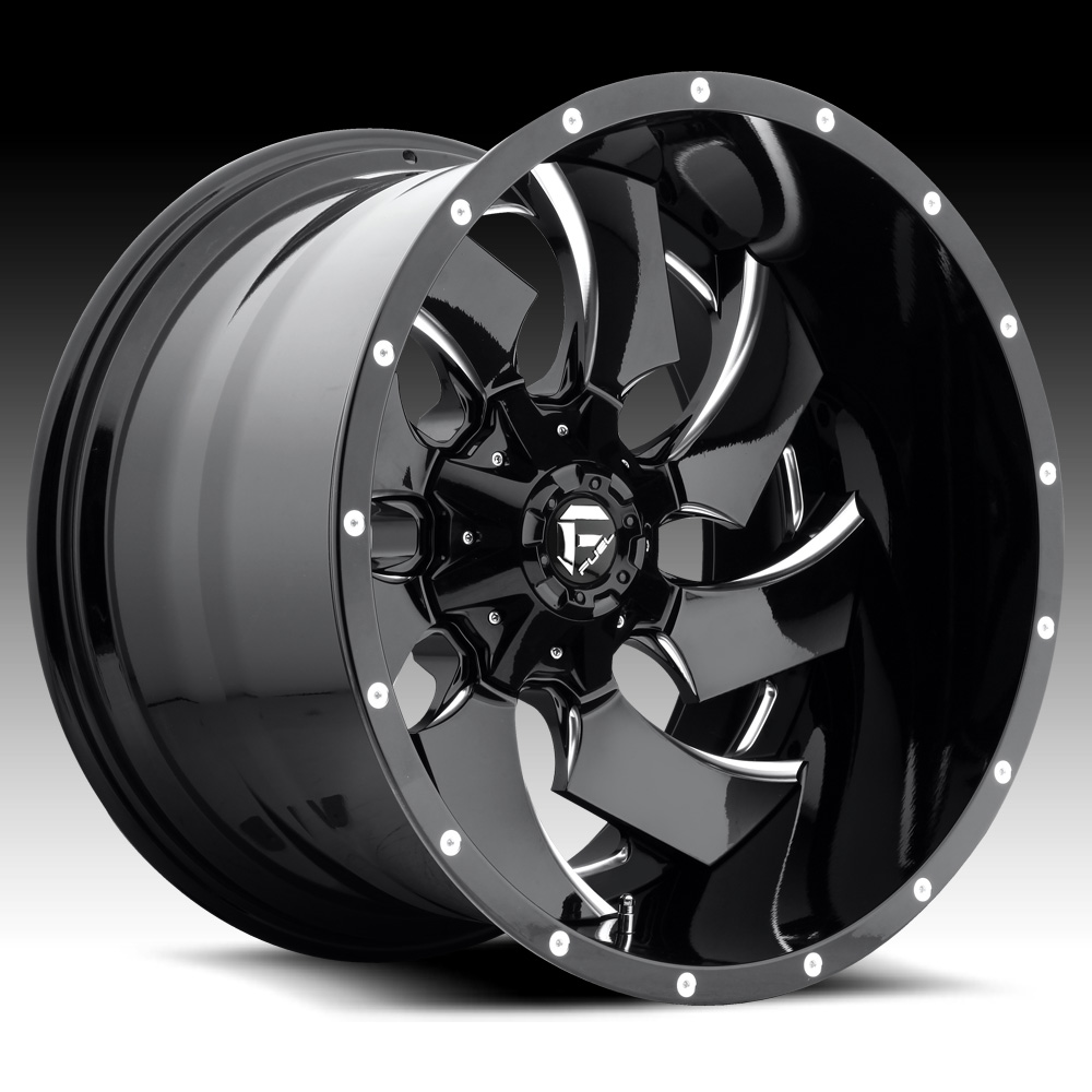 Truck Wheels Rims : Fuel d cleaver pc gloss black milled custom truck