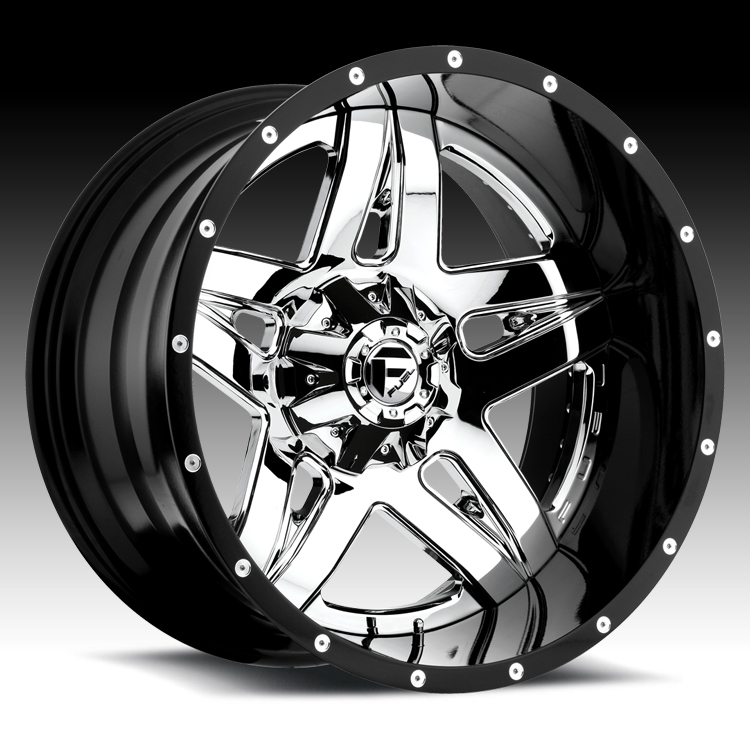 Fuel D253 Full Blown 2 Pc Chrome W Black Barrel Custom Truck Wheels Rims D253 Full Blown Fuel 2pc Custom Wheels For Trucks Jeeps Suvs And Passenger Cars