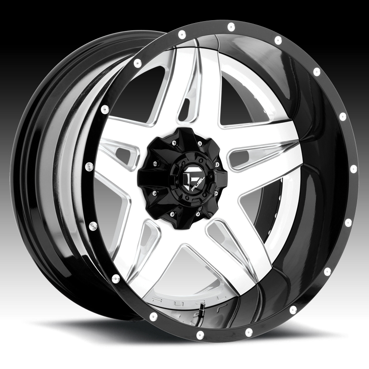 Truck Wheels Rims : Fuel d full blown pc gloss white w milled accents
