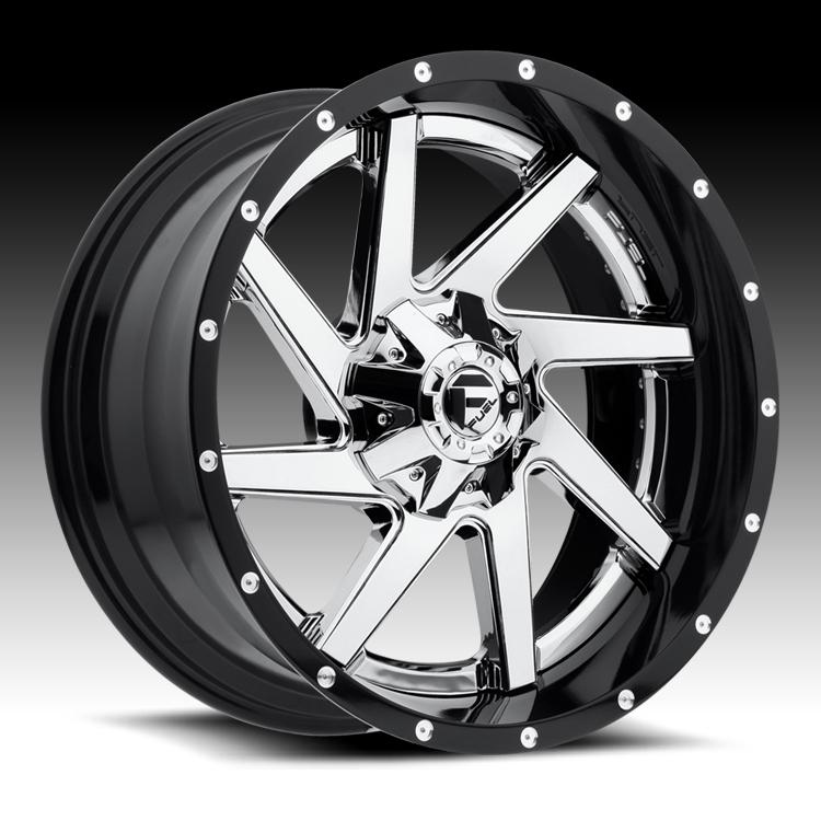 Fuel Truck Wheels >> Fuel D263 Renegade 2 Pc Chrome Gloss Black Custom Truck Wheels