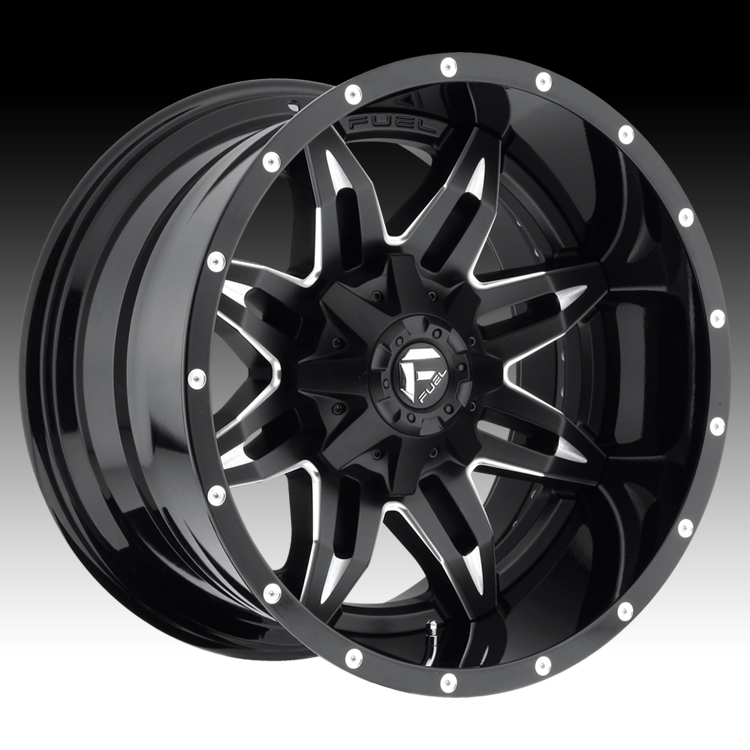 Fuel Truck Wheels >> Fuel D267 Lethal 2 Pc Matte Black W Milled Accents Custom