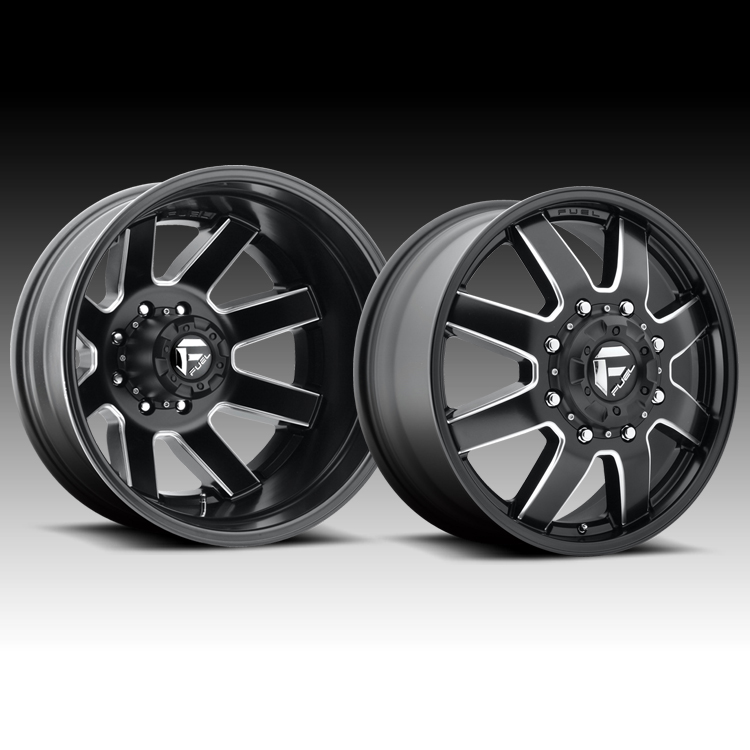 Fuel D538 Maverick Dually Matte Black Milled Truck Wheels