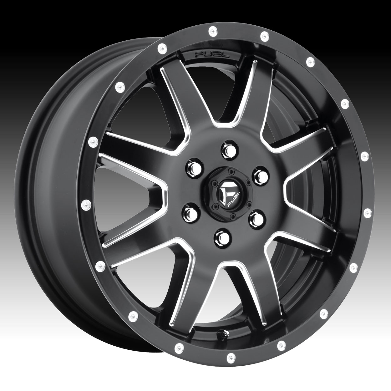 Jeep Custom Wheels >> Fuel Maverick Van D538 Black Milled Custom Van Wheels Rims ...