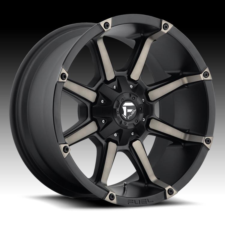Truck Wheels Rims : Fuel coupler d matte black w dark tint custom truck