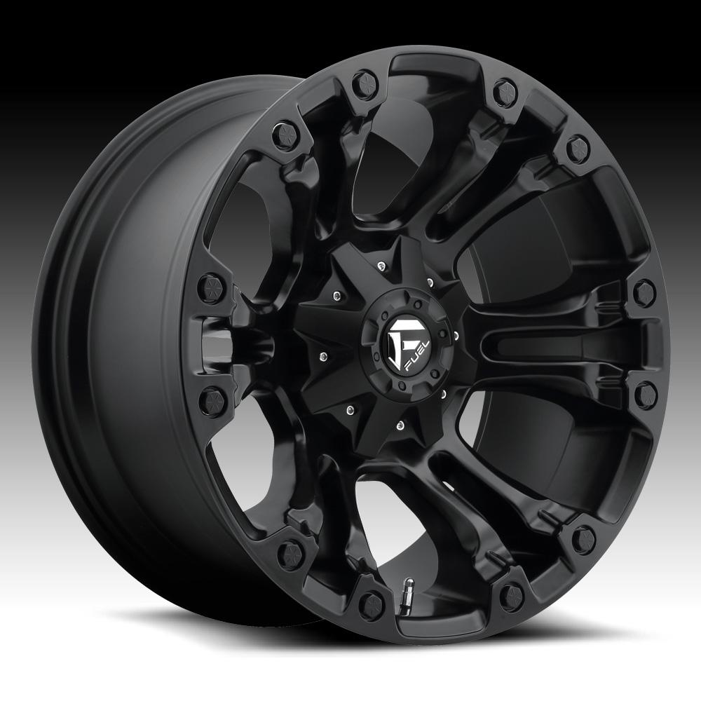 Truck Wheels Rims : Fuel vapor d matte black custom truck wheels rims