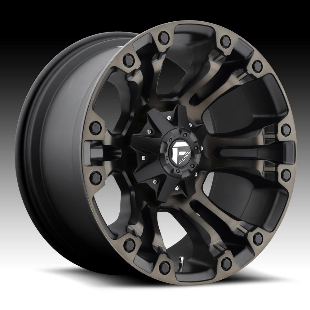 Truck Wheels Rims : Fuel vapor d matte black machined w dark tint custom