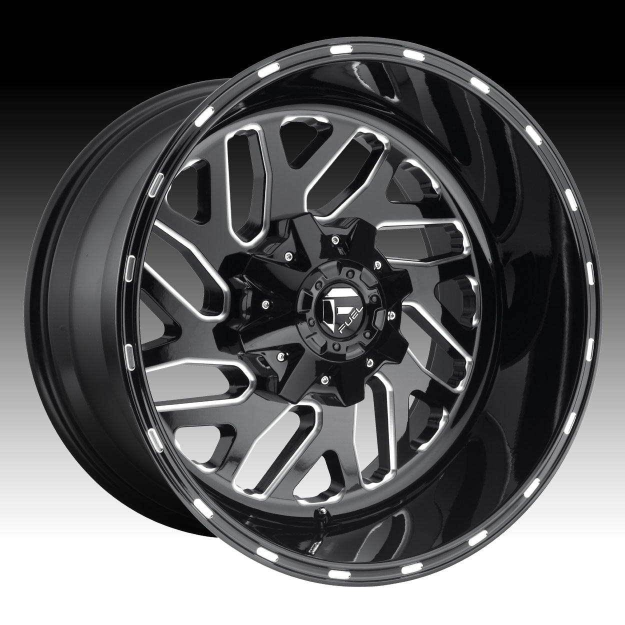 Fuel Triton D581 Gloss Black Milled Custom Truck Wheels