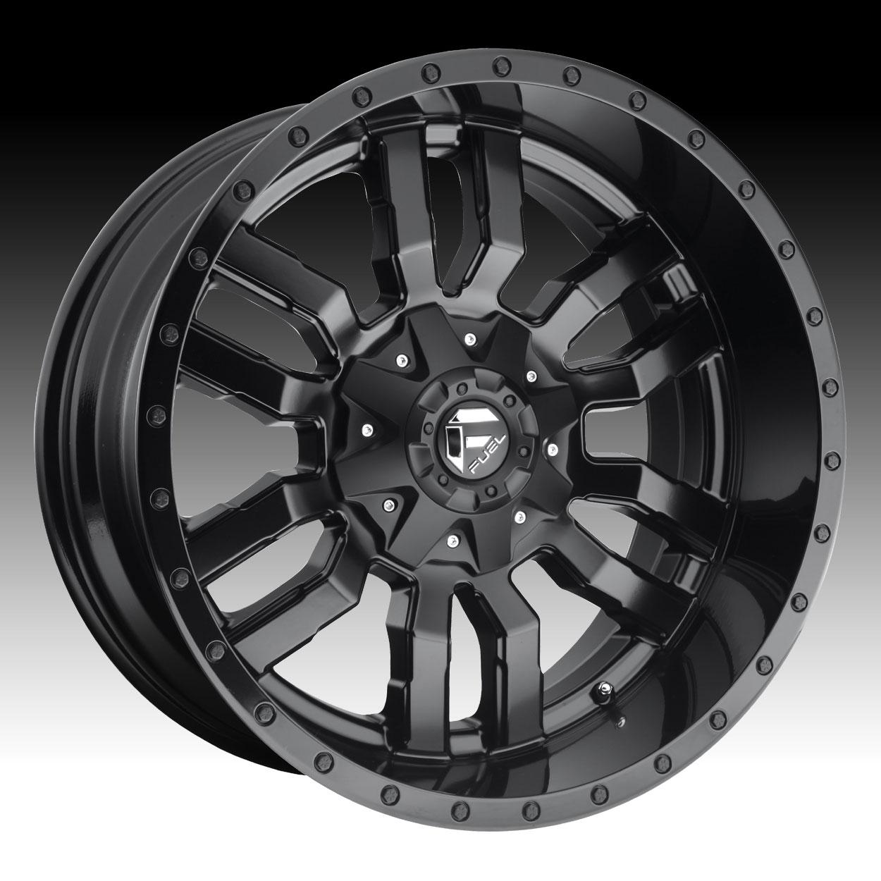Fuel Sledge D596 Black Custom Truck Wheels Rims