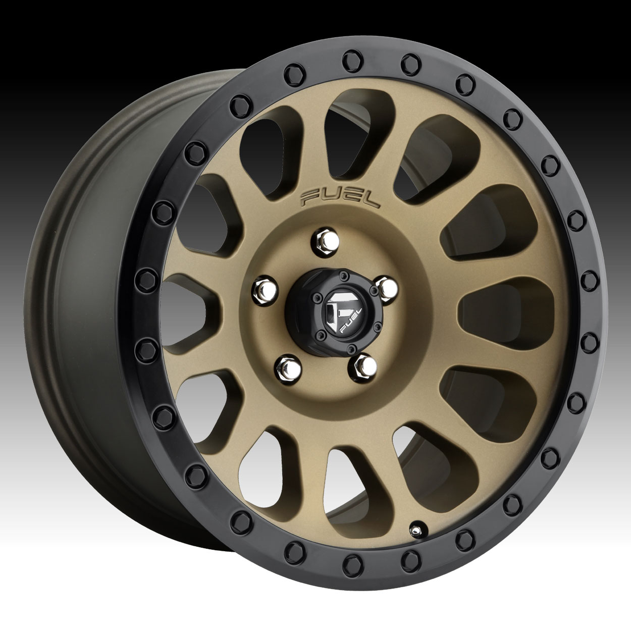 Fuel Vector D600 Bronze Black Ring Custom Truck Wheels