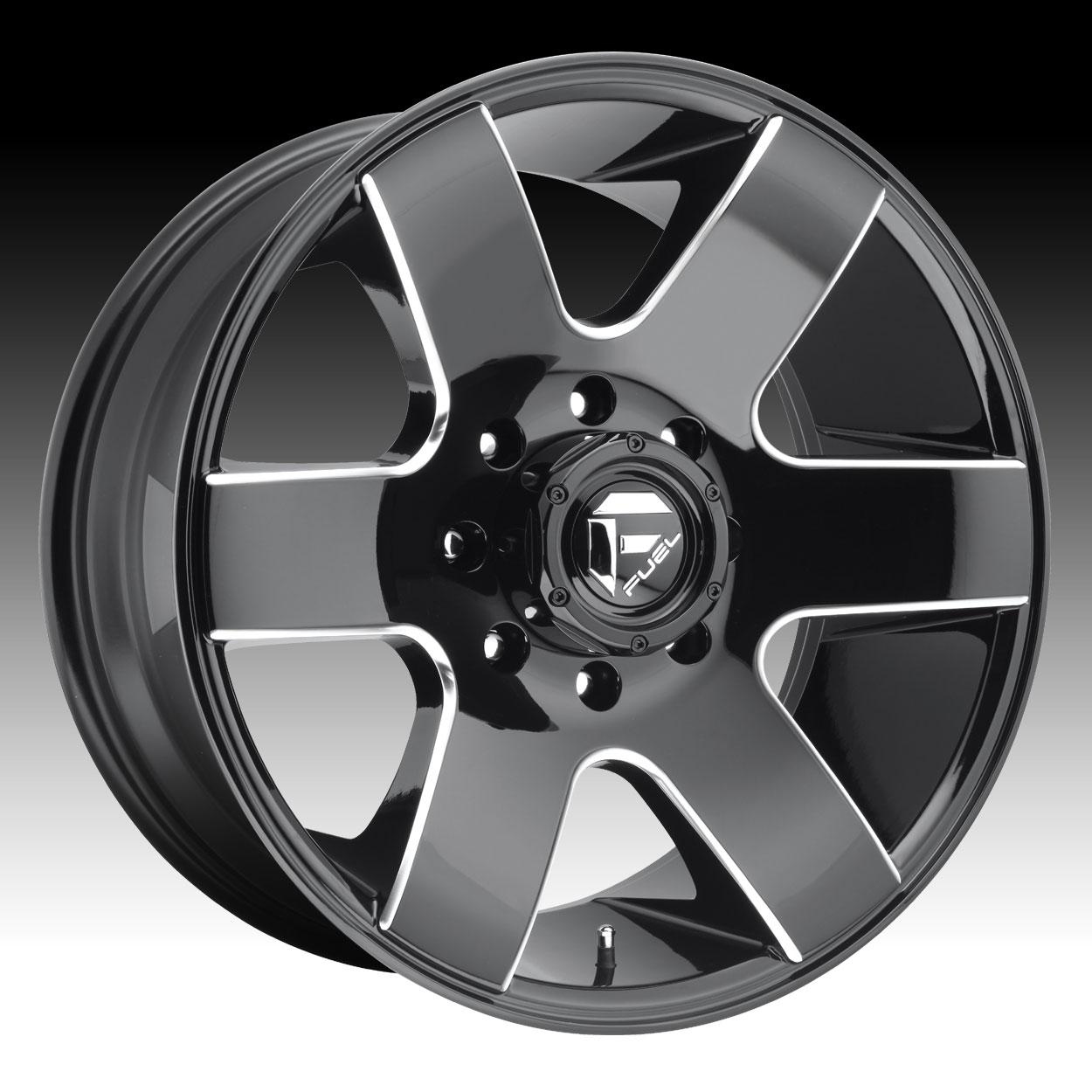 Fuel Tank D602 Gloss Black Milled Custom Truck Wheels Rims ...
