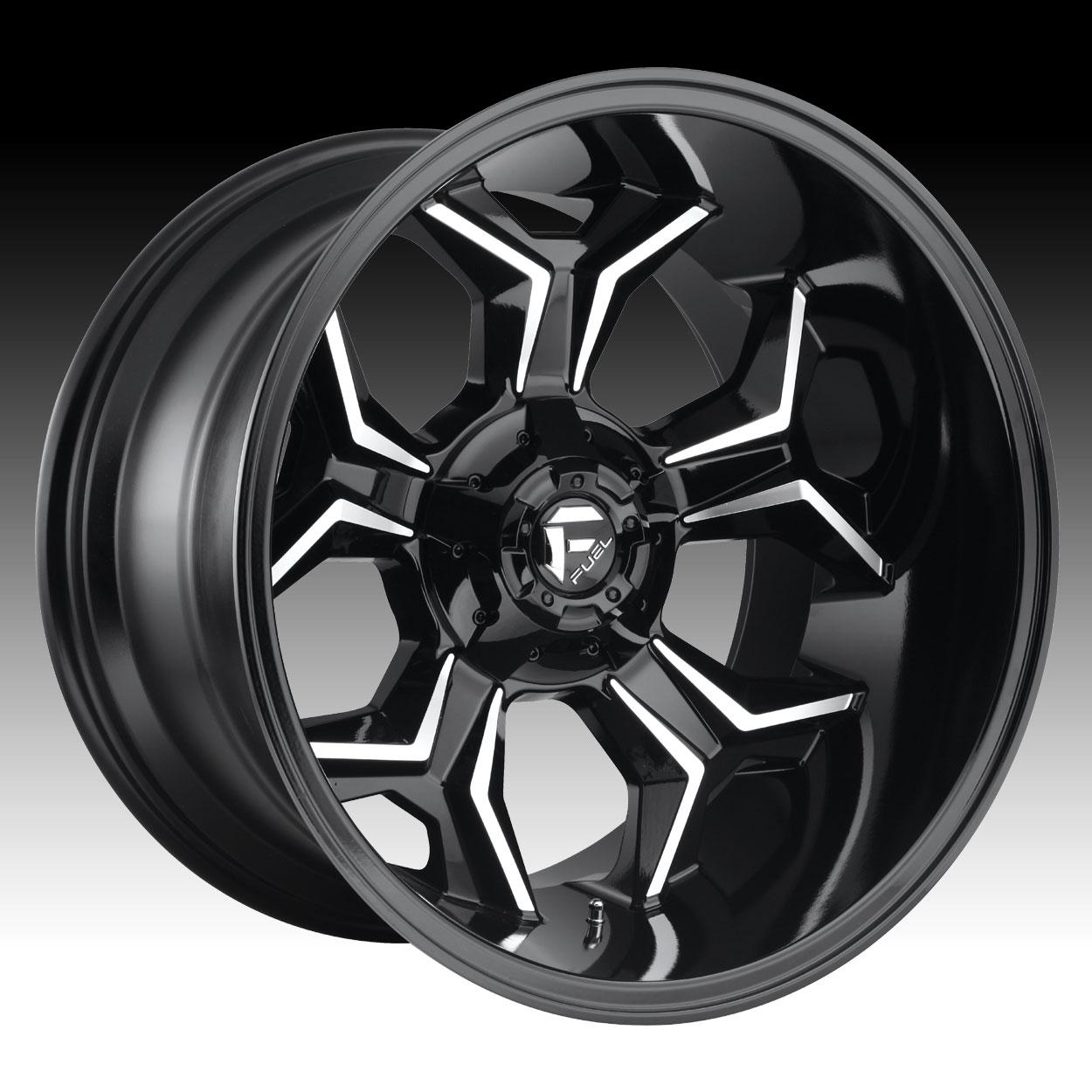 Truck Wheels Rims : Fuel avenger d gloss black milled custom truck wheels