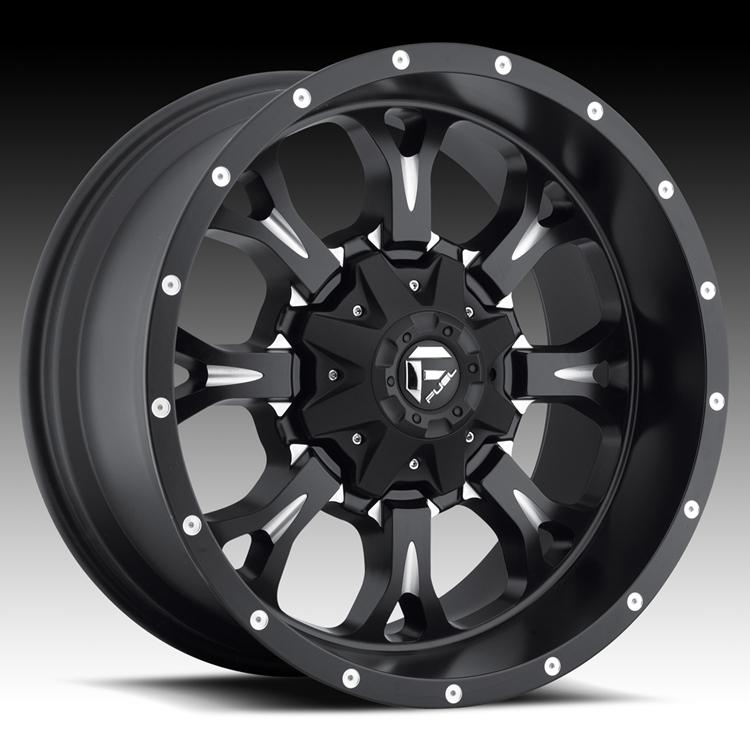 Truck Wheels Rims : Fuel krank d matte black milled truck wheels rims