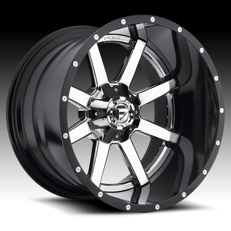 Fuel D260 Maverick 2 Pc Chrome Black Truck Wheels Rims D260 Maverick Fuel 2pc Custom Wheels For Trucks Jeeps Suvs And Passenger Cars