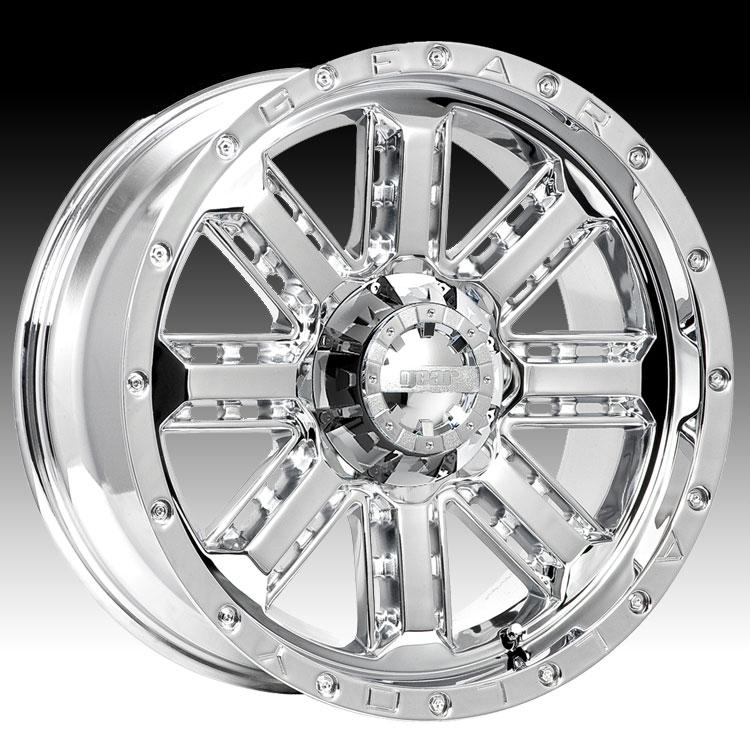 Gear Alloy 723c 723 Nitro Chrome Custom Rims Wheels Gear