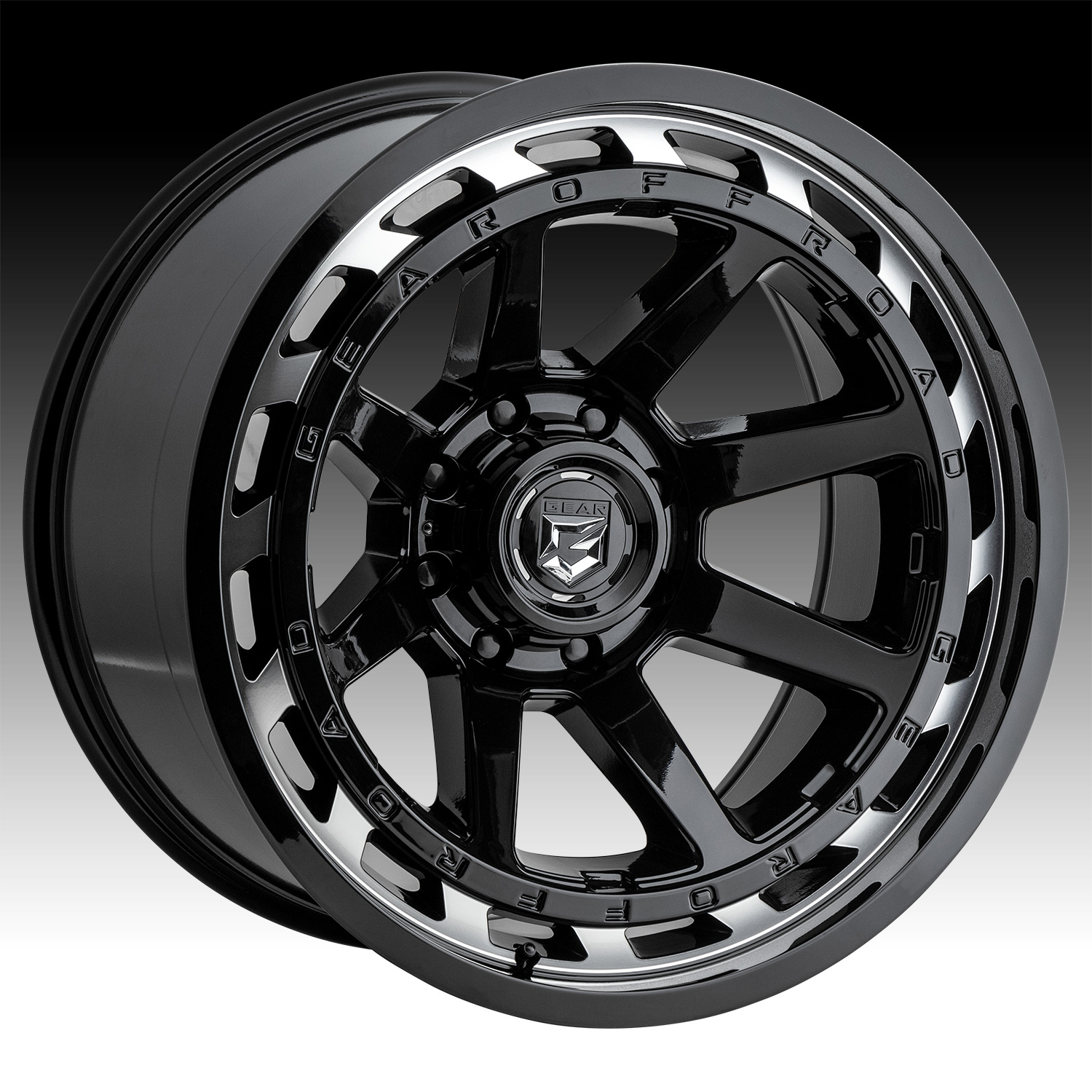 18x9//6x5.5, +18mm Offset Gear Alloy 726M Big Block Wheel with Machined Finish