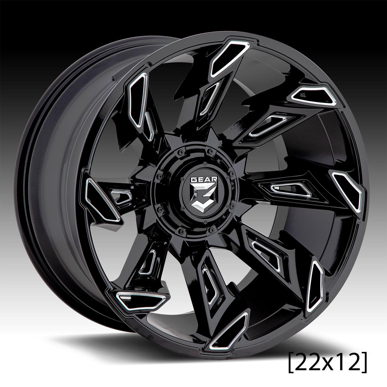 Gear Alloy Big Block 20X10 6X135//6X5.50-19et Black Milled Wheels Rims