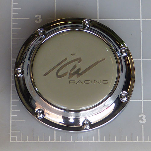 CAP-211 / ICW Racing Chrome Pop-In Center Cap 1