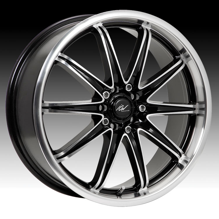 ICW Racing 209MB EURO Wheel with Machined Finish 17x7.5//5x4.5, +42mm Offset