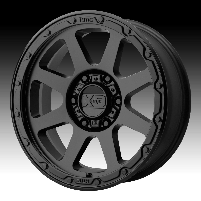 Kmc Xd Series Xd134 Addict 2 Matte Black Custom Wheels Rims Xd
