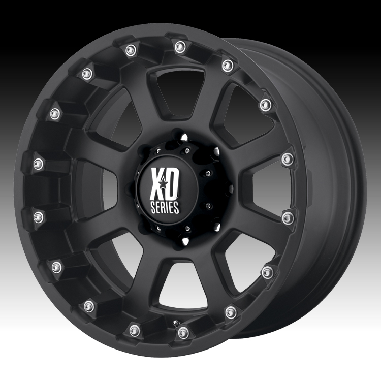 Kmc Xd Wheels >> KMC XD Series XD807 Strike Matte Black Custom Wheels Rims ...