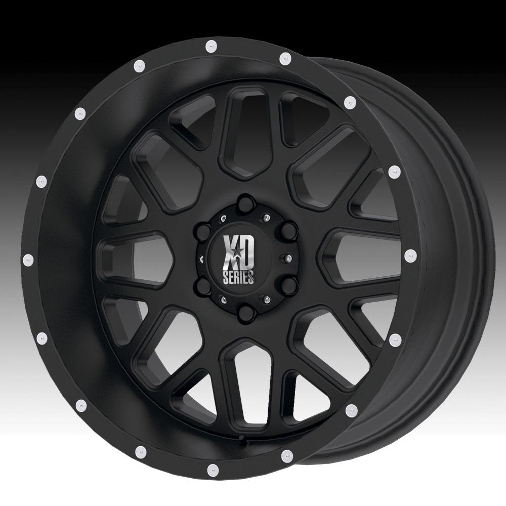 Kmc Xd Series Xd820 Grenade Satin Black Custom Wheels Rims Xd