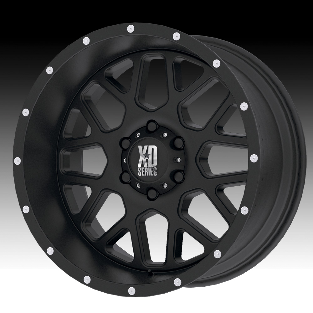 Kmc xd series xd820 grenade satin black custom wheels rims click to enlarge
