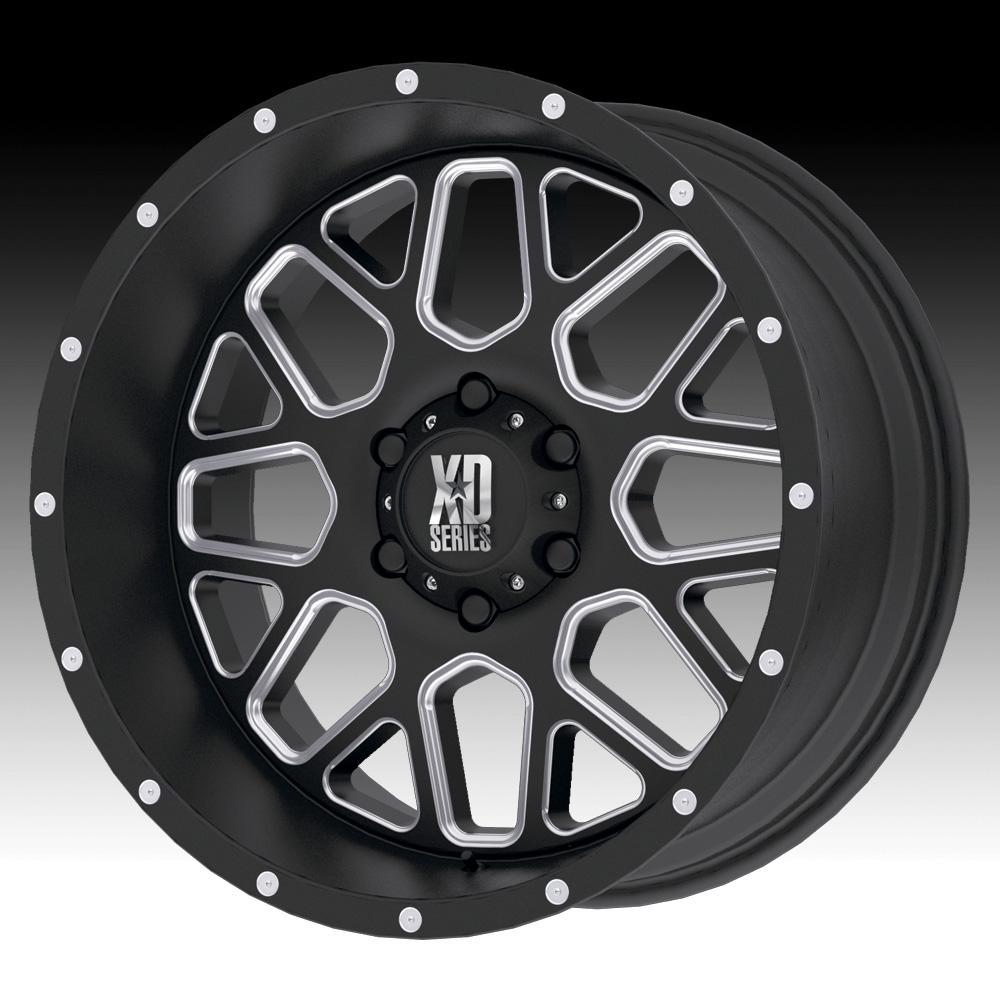 Kmc xd series xd820 grenade satin black milled custom wheels rims click to enlarge