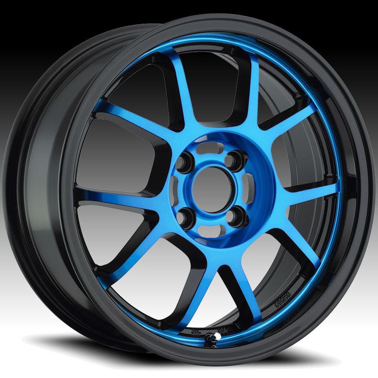 Konig Foil 17bl 4l Black W Blue Face Custom Rims Wheels